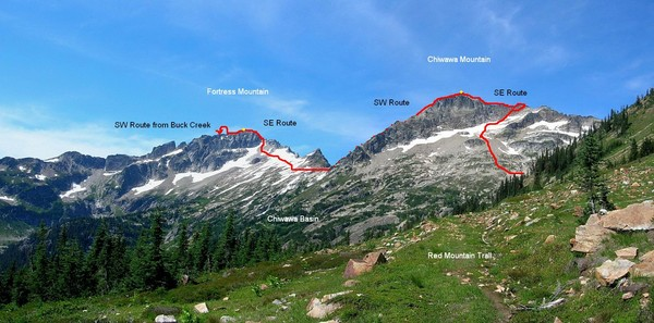 The traverse over Fortress Mountain and Chiwawa Mountain